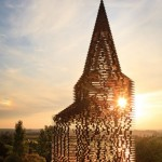 The transparent steel church